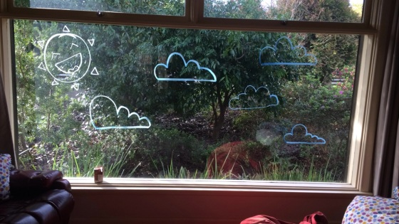 Day 165: Window art for an indoor picnic with the girls