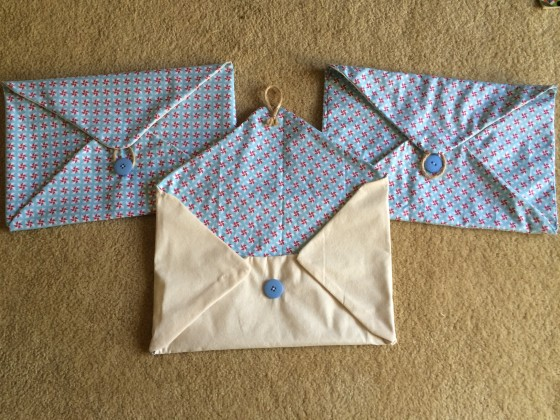 Day 183: The finished wishing well envelope trio